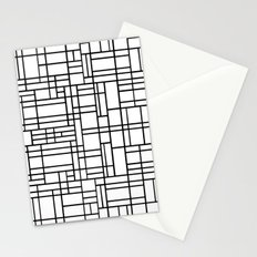 Map Outline Black on White  Stationery Cards