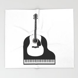 Piano and Guitar Throw Blanket