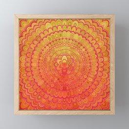 Aztec Flower Mandala Framed Mini Art Print