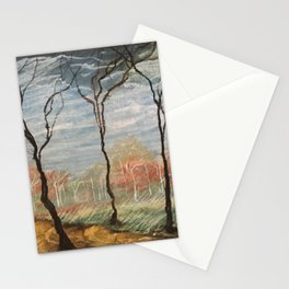 Pastel Wood Stationery Cards