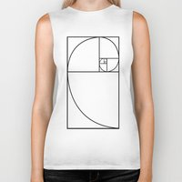 fibonacci Biker Tanks featuring fibonacci spiral by nyealexanda