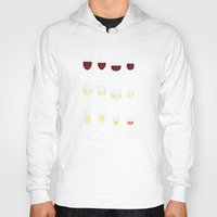 wine Hoodies featuring Wine by Sara Showalter