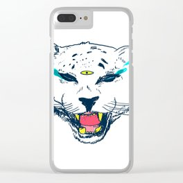 leopard tears Clear iPhone Case