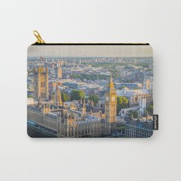 View of Big Ben and Houses of Parliament from London Eye | Europe UK City Urban Landscape Photography Carry-All Pouch