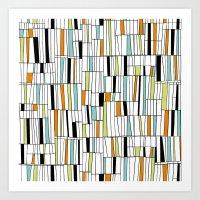 Mid Century Pattern Art Print