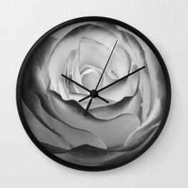 Flower - II (BW) Wall Clock