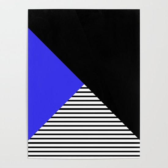 Blue & Black Geometric Abstraction by keishad