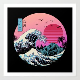 The Great Retro Wave Art Print