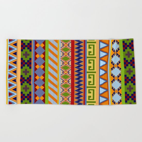 Tribal Aztec Patterns Beach Towel