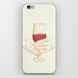 It's Wine Time - Women Holding Wine Glass iPhone Skin