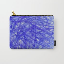 Ophelia Blue Scribble Carry-All Pouch