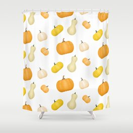 Pumpkins & Squash Pattern Shower Curtain