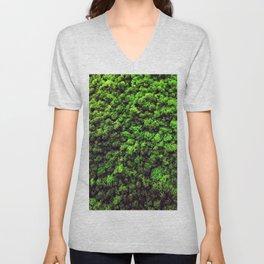 Dark Green Moss Unisex V-Neck