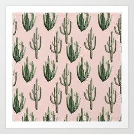 Cactus Prep Art Print