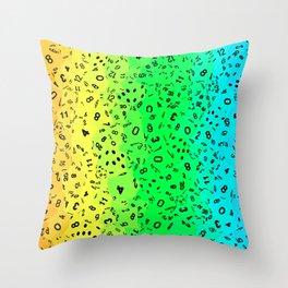 Rainbow Dice Throw Pillow