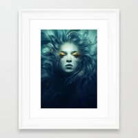 ink Framed Art Prints featuring Ink by Anna Dittmann