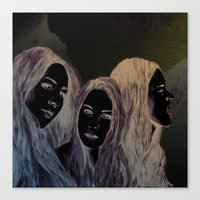 haim Canvas Prints featuring Haim by Jessica Feral