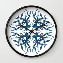 Coral Fan Wall Clock