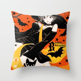 Black Cat's Delivery Service Throw Pillow
