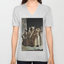Bombing, Night - Sir William Orpen Unisex V-Neck