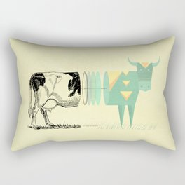 the black and white cow who wanted to be colorfully geometric  Rectangular Pillow