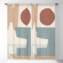 Minimal Abstract Art 61 Blackout Curtain