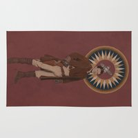 captain silva Area & Throw Rugs featuring Captain by mycolour