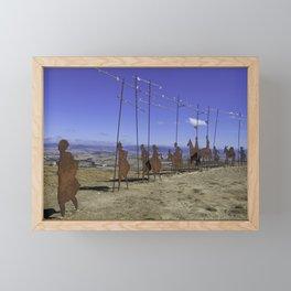 Alto de Perdon, Pilgrim Statue Framed Mini Art Print