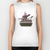 military Biker Tanks featuring Military-Industrial Complex by James Tuer