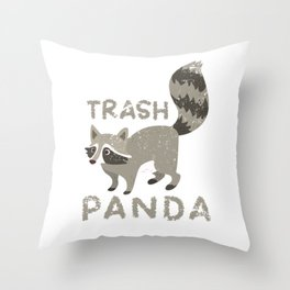 Racoon Trash Panda Throw Pillow