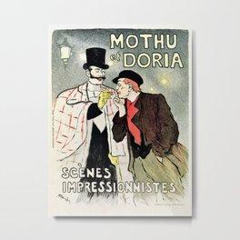 Mothu et Doria Metal Print