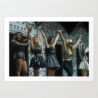 fifth harmony Art Prints featuring Fifth Harmony by Halle