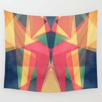 be happy Wall Tapestries featuring Happy by VessDSign