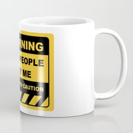 Human Warning Label STUPID PEOPLE ANNOY ME PROCEED WITH CAUTION Sayings Sarcasm Humor Quotes Coffee Mug