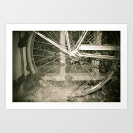 Sepia Bike Art Print