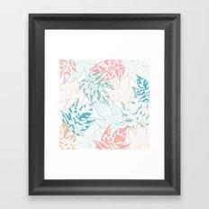 Winter leaves Framed Art Print
