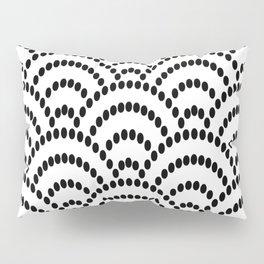 Japanese Seigaiha Dotted Seamless Pattern Geometrical Symbols Pillow Sham