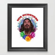 THE DUDE Framed Art Print