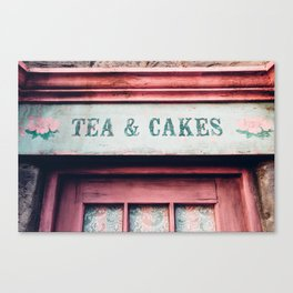 Tea & Cakes Canvas Print