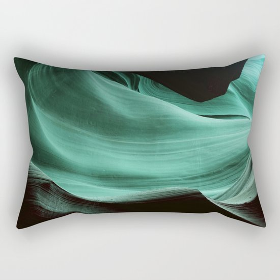 Blue Rock Rectangular Pillow