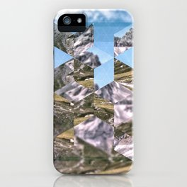 Mountain Fragments iPhone Case