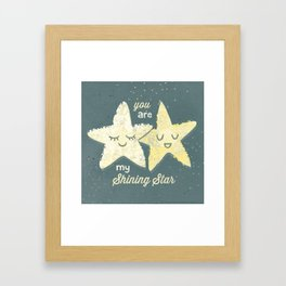 You are My Shining Star Framed Art Print