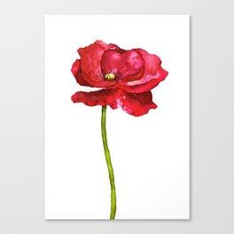 Ink Poppy Painting (Original Artwork) Canvas Print