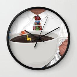 KeithHaring coffee Wall Clock