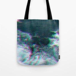 Oceanic Glitches - Deep Green Tote Bag