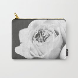 Light Grey Rose #1 #floral #art #society6 Carry-All Pouch