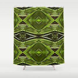 Dew Drop Jewels on Summer Green Grass Shower Curtain