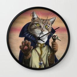 Sorcerer Cat Wall Clock