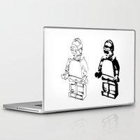 c3po Laptop & iPad Skins featuring C3PO by TASHIMARO
