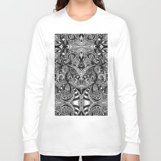 Drawing Floral Zentangle B6 Long Sleeve T-shirt
